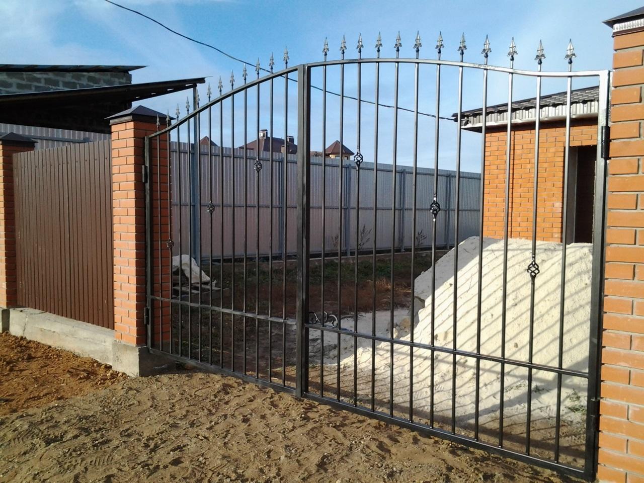 Въездные ворота в частный дом своими руками 10